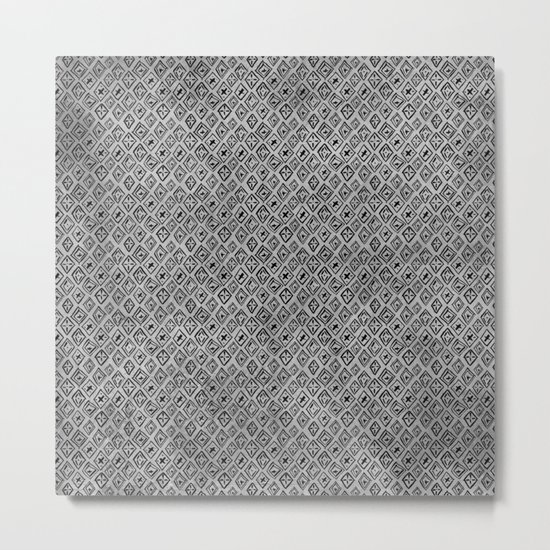 60s -Black abstract pattern on concrete -Mix&Match with Simplicty of life Metal Print