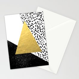 Rexa - gold abstract minimal tribal glitter triangle geometric art cell phone case brooklyn austin  Stationery Cards