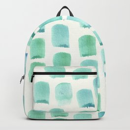 Serene Teal to Blue Watercolor Backpack