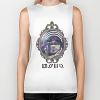30 seconds to mars Biker Tanks featuring 30 Seconds To Mars by Andrea Valentina