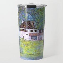 """Gustav Klimt """"Schloss Kammer on the Attersee III"""" Travel Mug"""