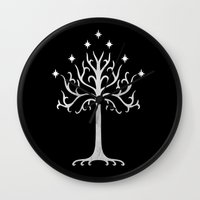 gondor Wall Clocks featuring White Tree of Gondor by A. Design
