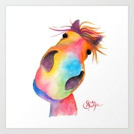 Happy Horse ' GoRGEOUS GWiNNY ' By Shirley MacArthur Art Print