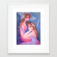 flora Framed Art Prints featuring Flora by Claire Keane