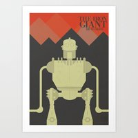 iron giant Art Prints featuring The Iron Giant  by Stefanoreves
