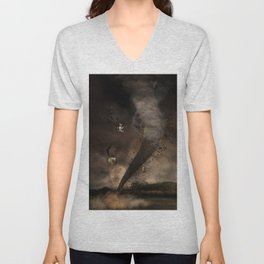 The twister Unisex V-Neck