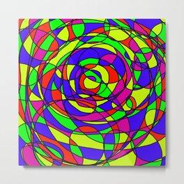 Swirls and Twirls Metal Print