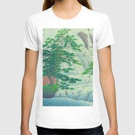 Kawase Hasui, Waterfall, Japanese Woodblock Print Ukiyo-e, Shin-hanga, Landscape T-shirt