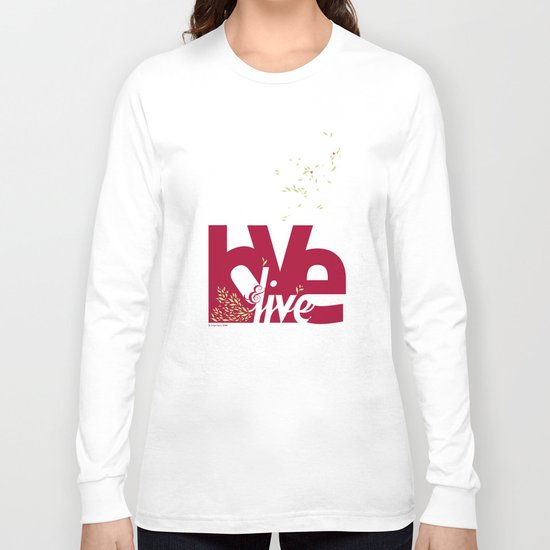Love & Live (leaves 1) Long Sleeve T-shirt