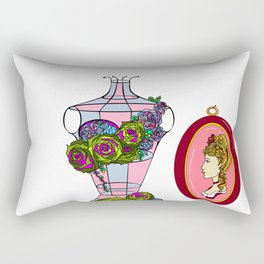 A Decor of Succulents on a Dress-form and a Cameo Rectangular Pillow