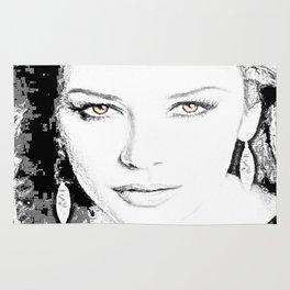 Catherine Zeta Jones Face2 Rug