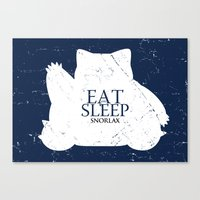 snorlax Canvas Prints featuring House Snorlax by Alecxps