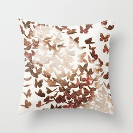 Butterfly People 3 Throw Pillow