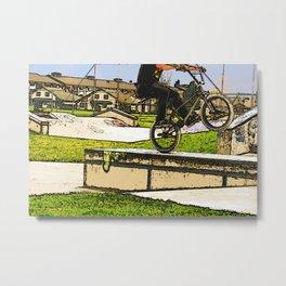 Wheelie Pro - BMX Rider Metal Print