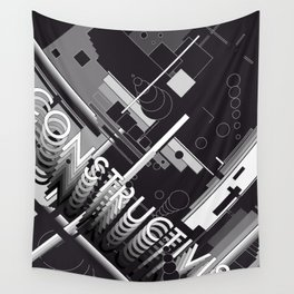 History of Art in Black and White. Constructivism Wall Tapestry