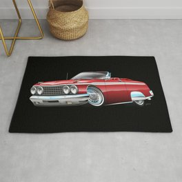 Early '60s Style American Classic Car Cartoon Rug