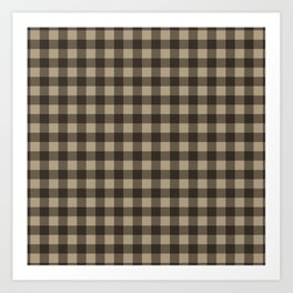 Plaid (brown/beige) Art Print