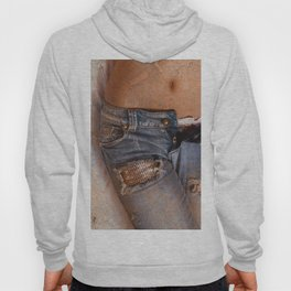 Close up of attractive woman on bed Hoody
