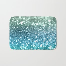 Seafoam Aqua Ocean MERMAID Girls Glitter #4 #shiny #decor #art #society6 Bath Mat