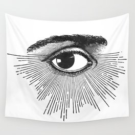 I See You. Black and White Wall Tapestry