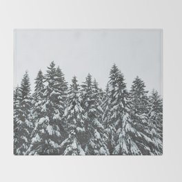 SNOWY TREETOPS Throw Blanket