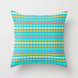 Miss Direction Throw Pillow