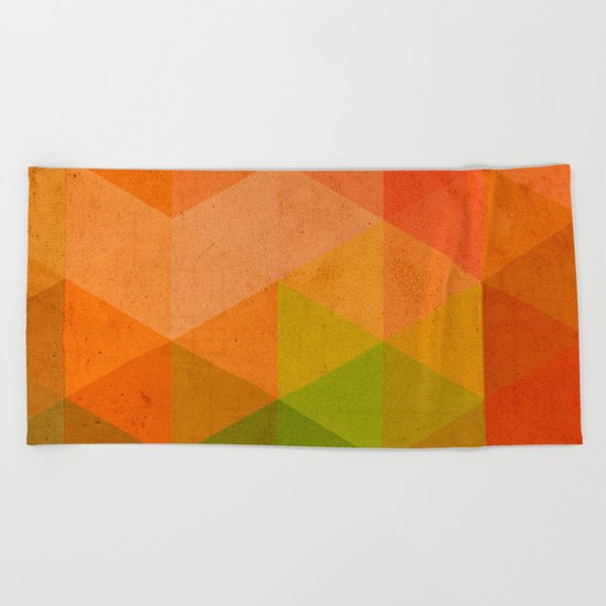 try a different angle triangle II Beach Towel