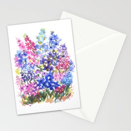 Blue Delphinium Garden Stationery Cards
