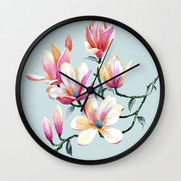 Graceful Flowers Wall Clock