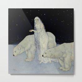 """The Snow Queen"" Fairy Tale Art by Edmund Dulac Metal Print"