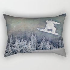 The Snowboarder Rectangular Pillow