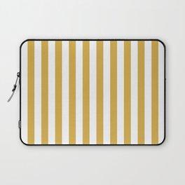 Large Mustard Yellow and White Cabana Tent Stripe Laptop Sleeve