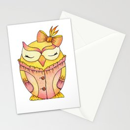 Small baby owl Stationery Cards