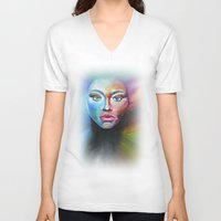 psychedelic V-neck T-shirts featuring Psychedelic  by Halinka H