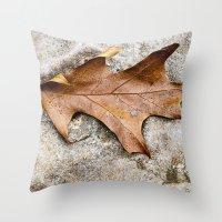 leaf Throw Pillows featuring leaf by Bonnie Jakobsen-Martin