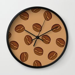 Pattern - Coffee Beans Wall Clock