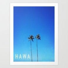 Hawaii Palm Trees Art Print