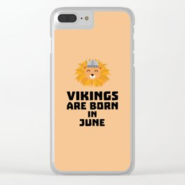 Vikings are born in June T-Shirt Dni2i Clear iPhone Case