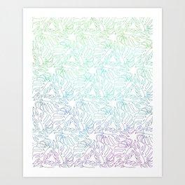 Ombre Monstera Leaves Art Print