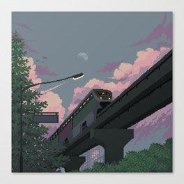 Moonrise Train Canvas Print