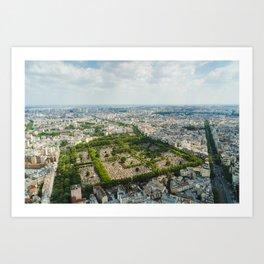 Montparnasse Cemetery Art Print