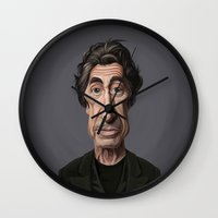 celebrity Wall Clocks featuring Celebrity Sunday ~ Al Pacino by rob art | illustration