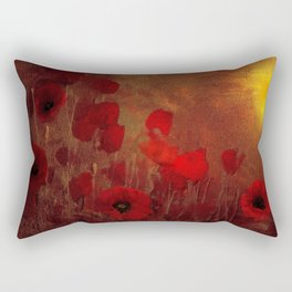 FLOWERS - Poppy heaven Rectangular Pillow