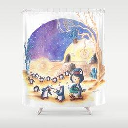 PenguinGirl and her Music Maker Penguins Bring Love, Laughter and Light in the Desert Shower Curtain