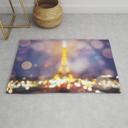 Abstract Eiffel Tower Rug