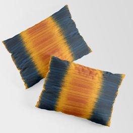 N249 - Orange Blue Oriental Vintage Boho Moroccan Style Pillow Sham