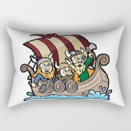 VIKINGS ON VIKING BOAT Longship Brute Berserk Rectangular Pillow
