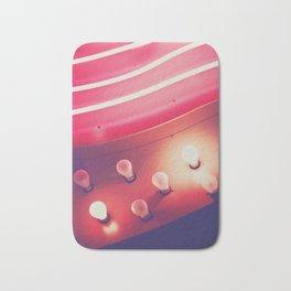 Pink Neon Glow Bath Mat