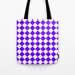 Diamonds - White and Indigo Violet Tote Bag
