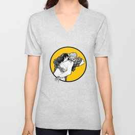 This is Z-Day - The Happy Couple (yellow window) Unisex V-Neck